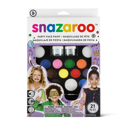 Snazaroo Ultimate Party Pack Face Painting Kit - Cute Face Paints For Halloween