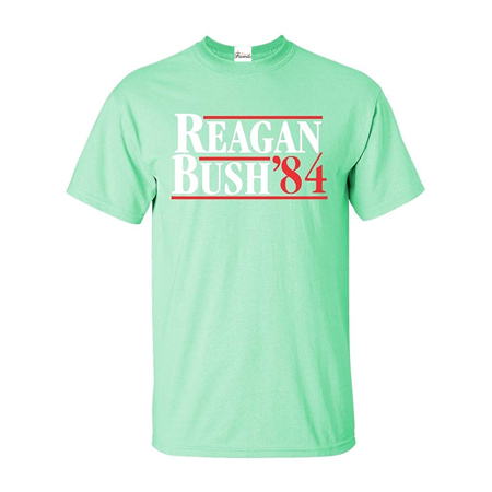 Reagan Bush 84 T-shirt Republican Presidential Campaign Shirts Anti Bush Tee Shirts