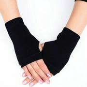 Multitrust Spring Warmer Winter Unisex Women Men Knitted Arm Gloves Fingerless