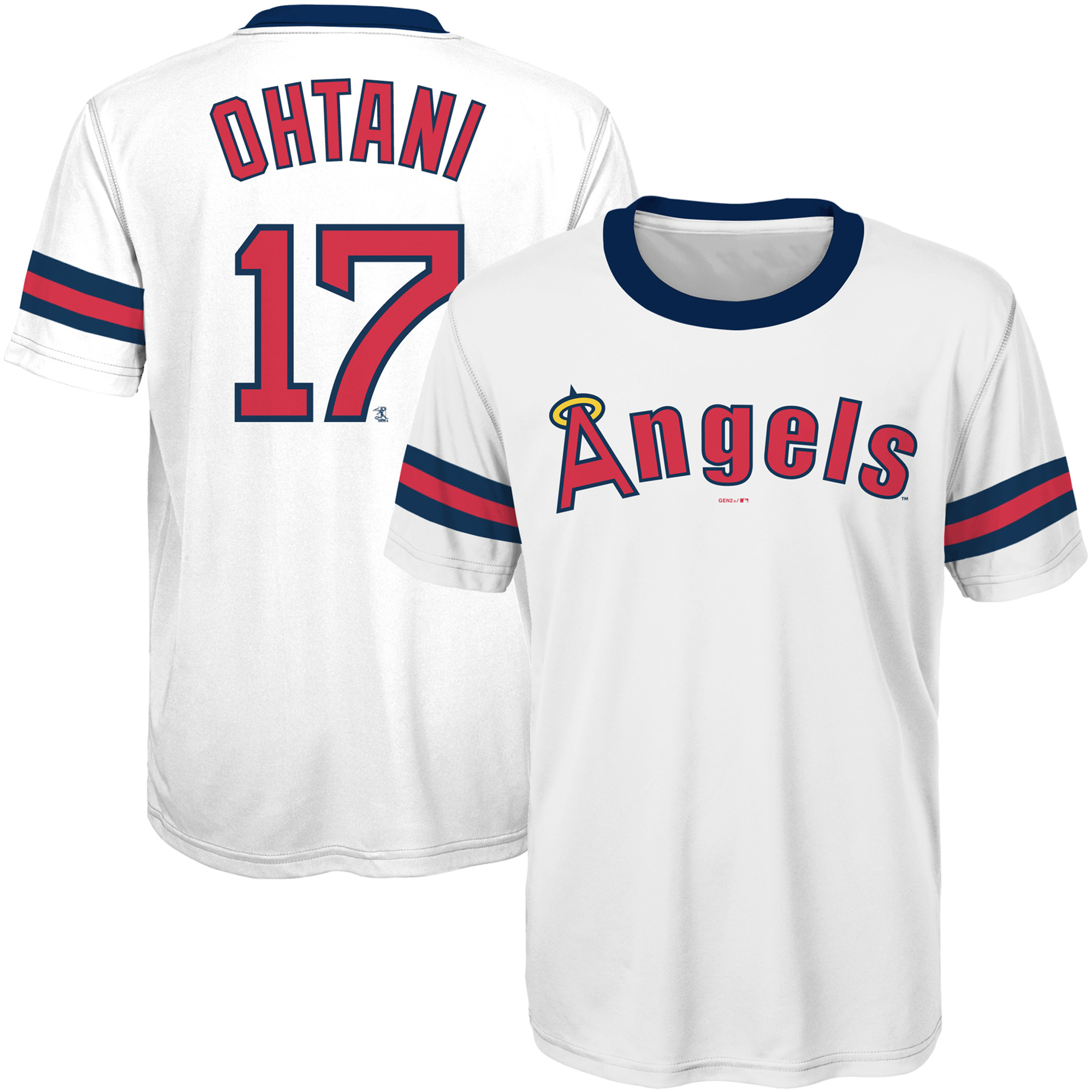 Shohei Ohtani Los Angeles Angels Youth Cooperstown Collection Player Jersey Top - White