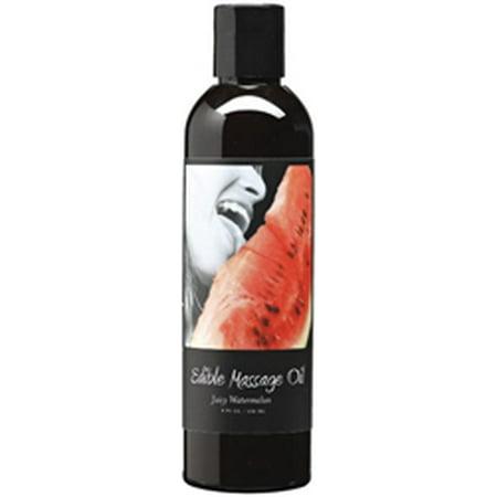 Earthly Body Edible Massage Oil - Watermelon, 8.0 oz.
