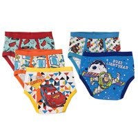 Disney Pixar Cars Boys' Briefs Underwear, 5 Pack 100% Combed Cotton (Little Boys & Big Boys) (Models May Vary)