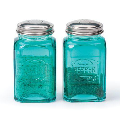 RSVP-INTL Retro 2-Piece Salt & Pepper Set (Set of 2)