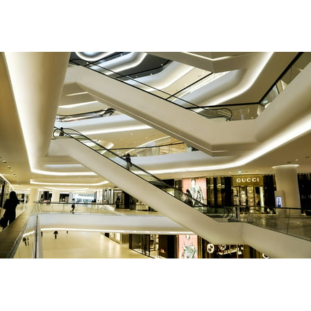 LAMINATED POSTER Mall Bangkok Shop Escalators Store Central Embassy Poster Print 24 x 36 for $<!---->