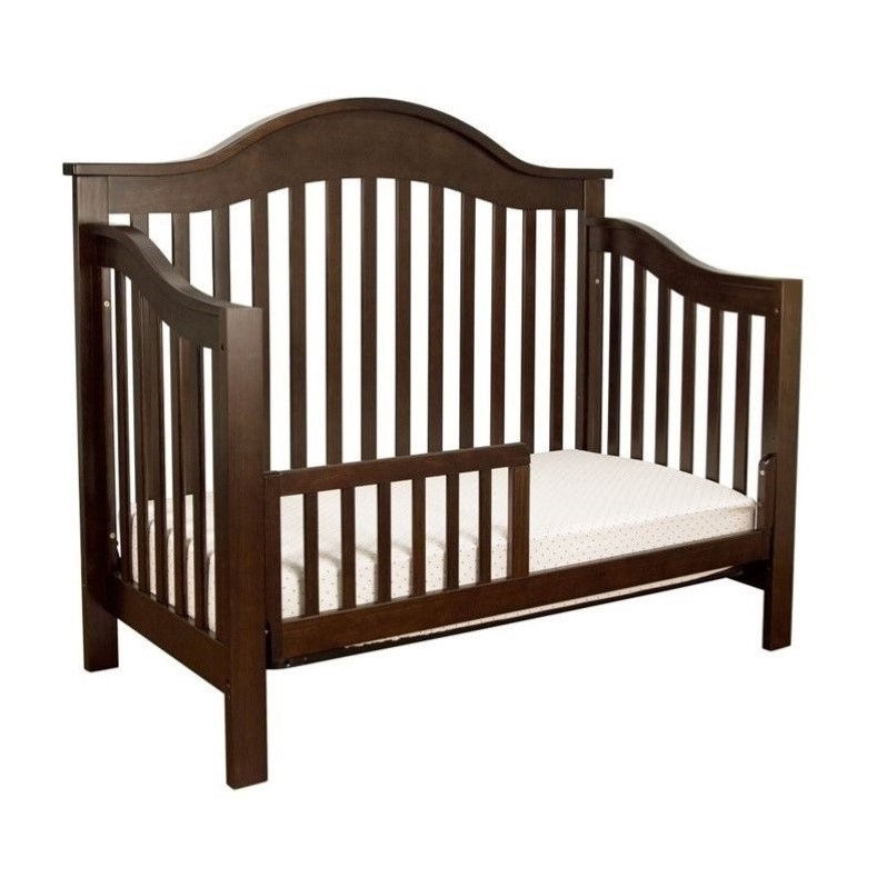 DaVinci Jayden 4-in-1 Convertible Crib with Changing Table in Ebony
