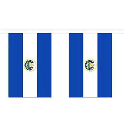 10' El Salvador String Flag Party Bunting Has 10 Salvadorian 6