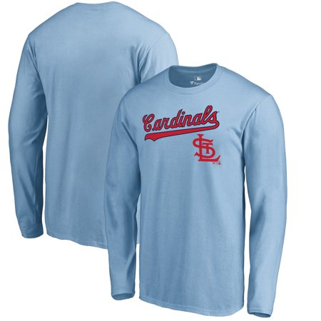 St. Louis Cardinals Fanatics Branded Cooperstown Collection Wahconah Long Sleeve T-Shirt - Light Blue - St Louis 2017 Halloween