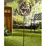The Lakeside Collection Double Spiral Solar Garden Spinner By