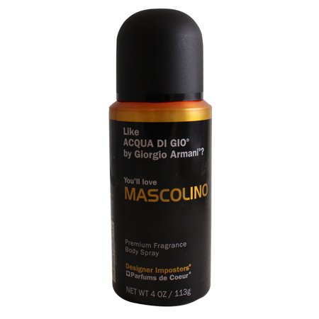 Mascolino Premium Fragrance Body Spray 4 Oz / 113 G