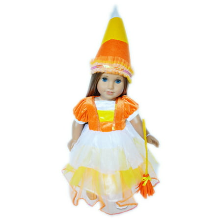 Candy Corn Halloween Costume for American Girl Dolls - Halloween Makeup Dolls