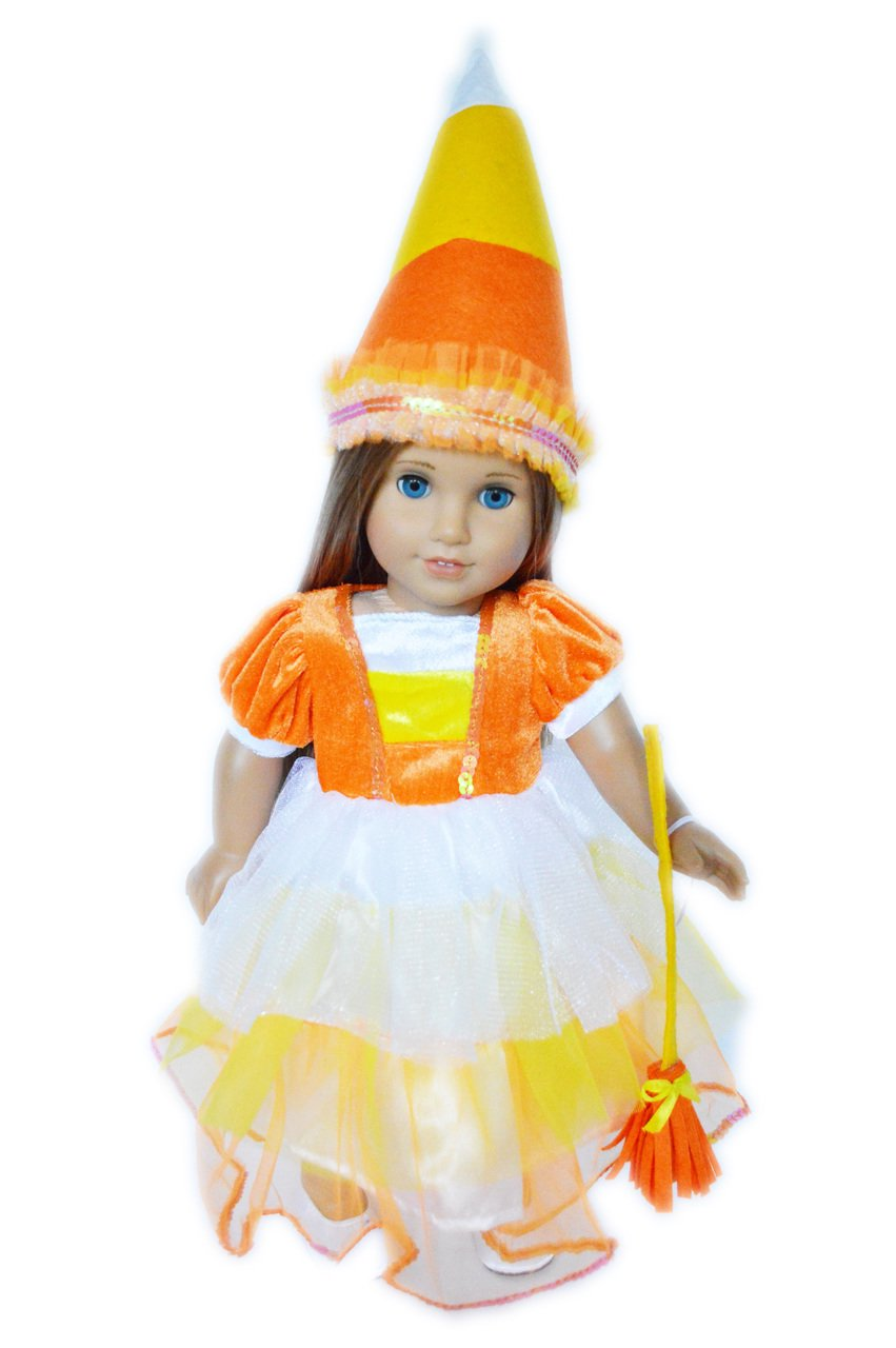 Candy Corn Halloween Costume for American Girl Dolls  sc 1 st  Walmart & Candy Corn Halloween Costume for American Girl Dolls - Walmart.com