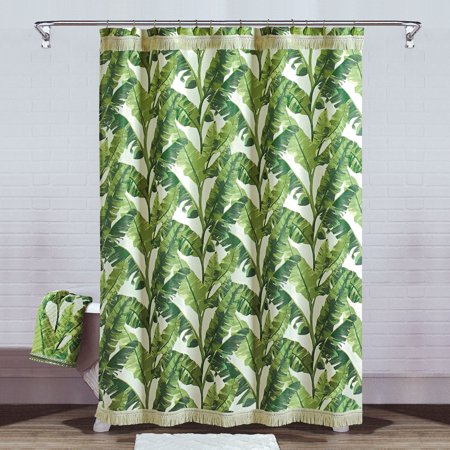 Better Homes Gardens Tropical Leaves Shower Curtain