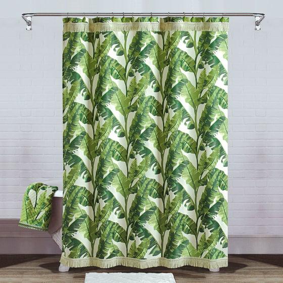Better Homes & Gardens Tropical Leaves Shower Curtain - Walmart.com
