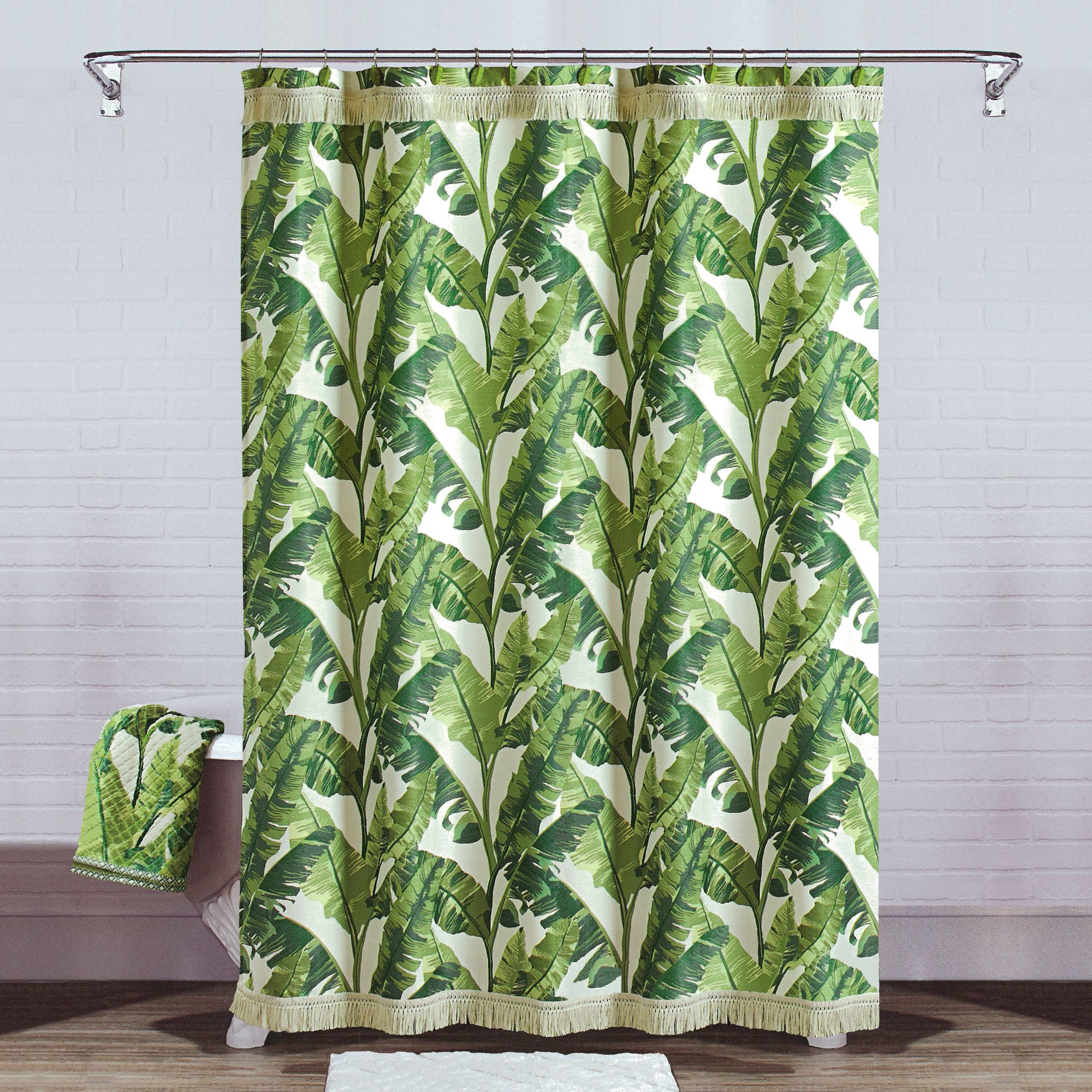 Better Homes & Gardens Tropical Leaves Shower Curtain