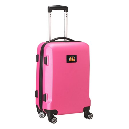 Cincinnati Bengals 20u0022 8-Wheel Hardcase Spinner Carry-On - Pink