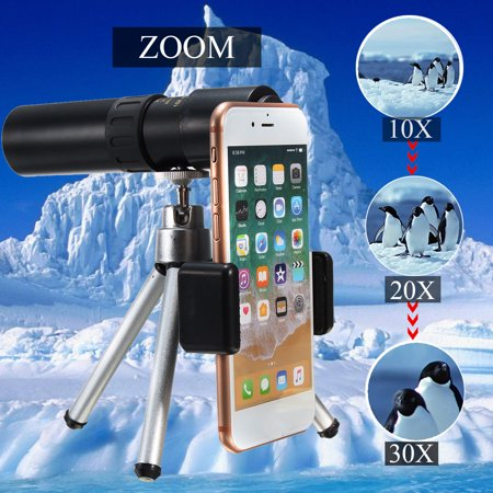 10-30X Zoom Telephoto Telescope Optical Monocular Phone Camera Lens Tripod Stand thumbnail