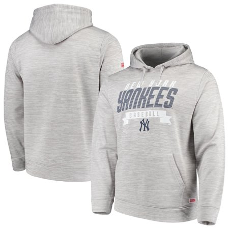 on sale 329ee e123a New York Yankees Stitches Poly Pullover Hoodie - Heathered Gray