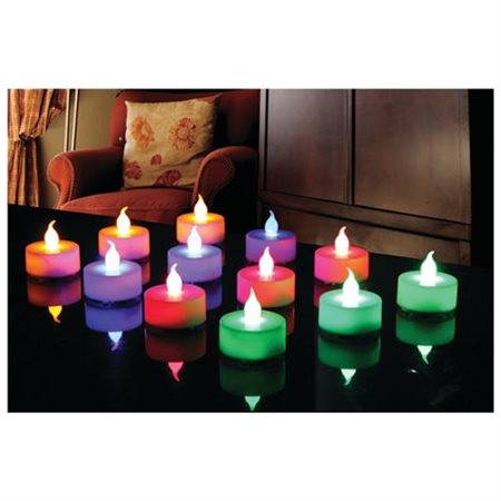 Northpoint Gm8245 12-piece Multicolored Led Tealight Set With 3 Batteries