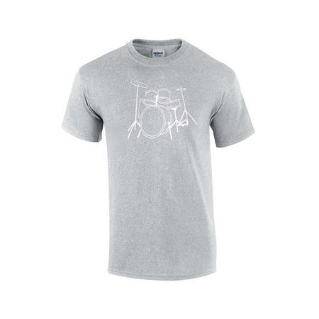 Drumming T-Shirt Drum Set Design Drummer Tee