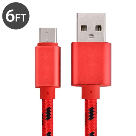 Usb Type C Cable Charger  Freedomtech 6Ft Usb C To Usb A Charger Nylon Braided Cable Fast Charger Cord For Samsung Galaxy Note 8  Galaxy S8 S8   Apple New Macbook  Nexus 6P 5X  Google Pixel  Lg G5 G6