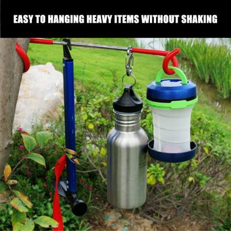 Camping Hook Hanger S Shaped Outdoor Bag Hanger Tent Lantern Arm Holder Travel Light Lamp Hook Fishing Adventure Tool - image 6 of 7