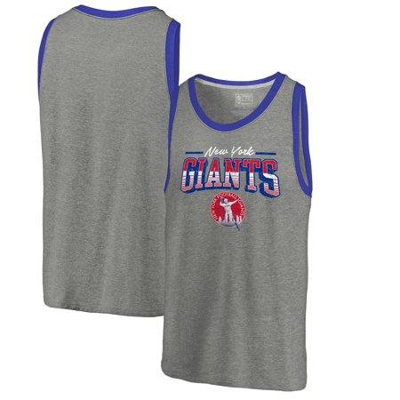 - New York Giants NFL Pro Line by Fanatics Branded Throwback Collection Season Ticket Tri-Blend Tank Top - Heathered Gray