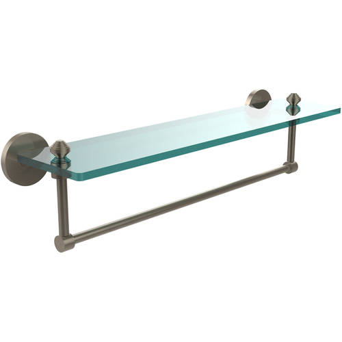 """Southbeach Collection 22"""" Glass Vanity Shelf with Integrated Towel Bar (Build to Order)"""