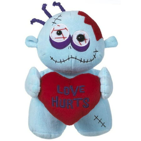 Love Hurts Valentines Day Zombie Plush by Ganz - Valentine Animals