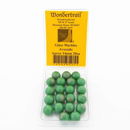 - Avocado Marbels 14mm Glass Marbles Pack of 20 Wondertrail