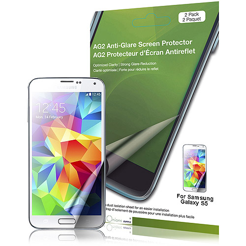 Green Onion AG2-2013 Anti-Glare Screen Protector for Samsung Galaxy S5 Smartphone, 2pk