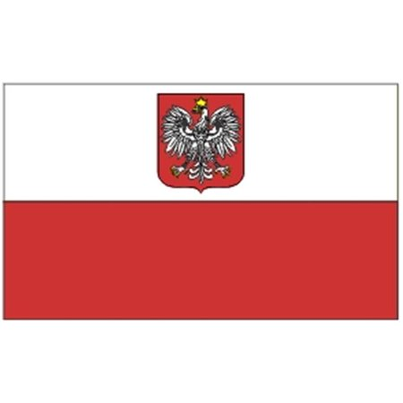Annin Flagmakers 221092 4 Ft  X 6 Ft  Nyl Glo Poland With Eagle Flag