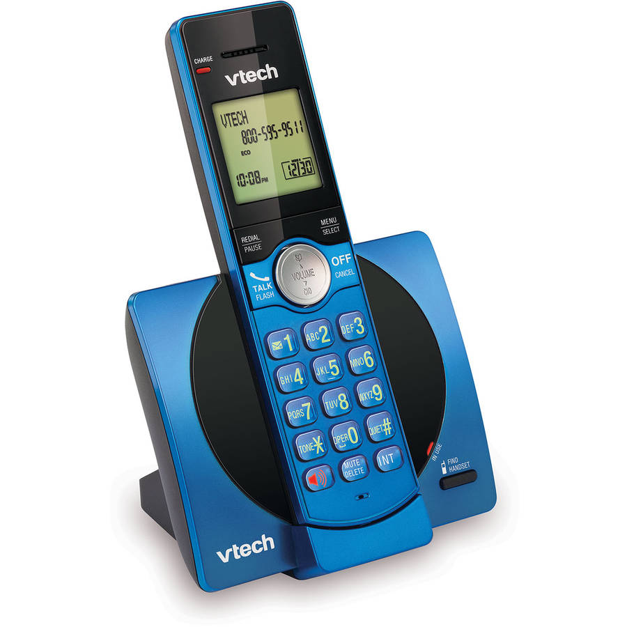VTech CS6919-15 DECT 6.0 Expandable Cordless Phone with Caller ID and Handset Speakerphone, Blue