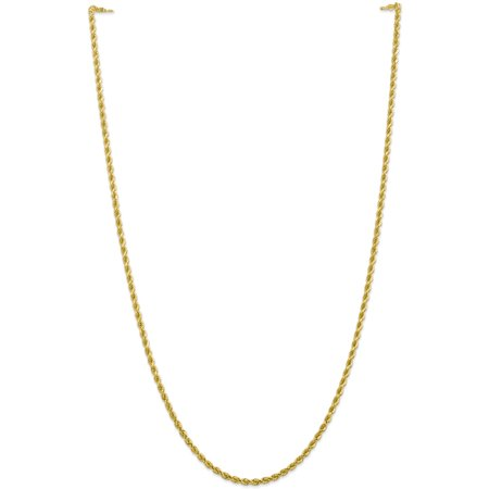 10k 2.75mm Handmade Diamond cut Rope Chain