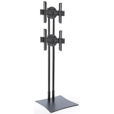 Displays2go DSTAND2BK Heavy Duty TV Stand for Dual HDTV Mounts, 32-70