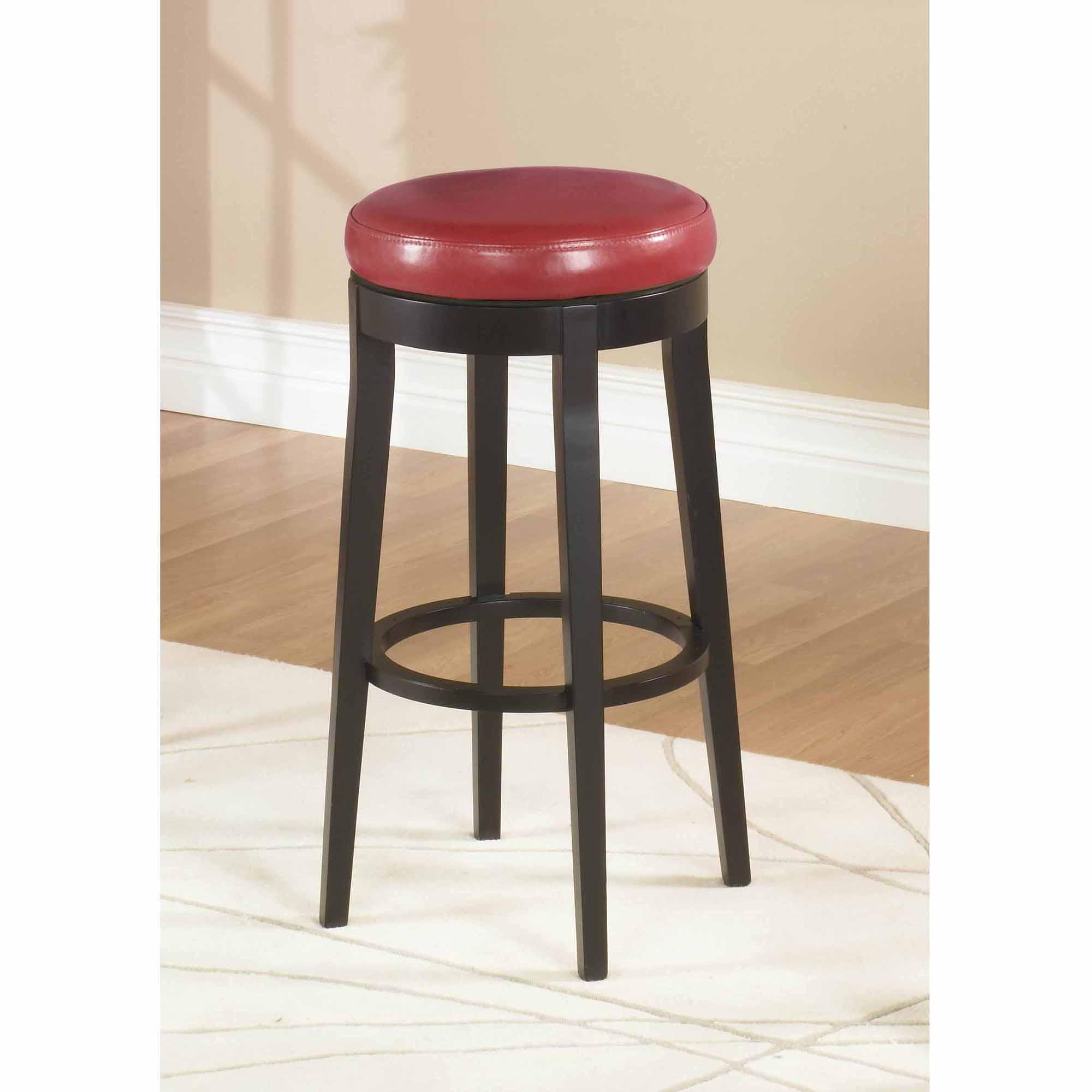 "Mbs-450 26"" Backless Swivel Barstool, Red"