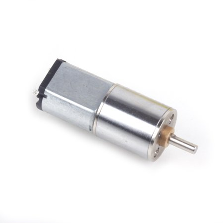 Material Box - Iron Material 16MM 6V 60RPM Powerful High Torque DC Gear Box Motor - Silver
