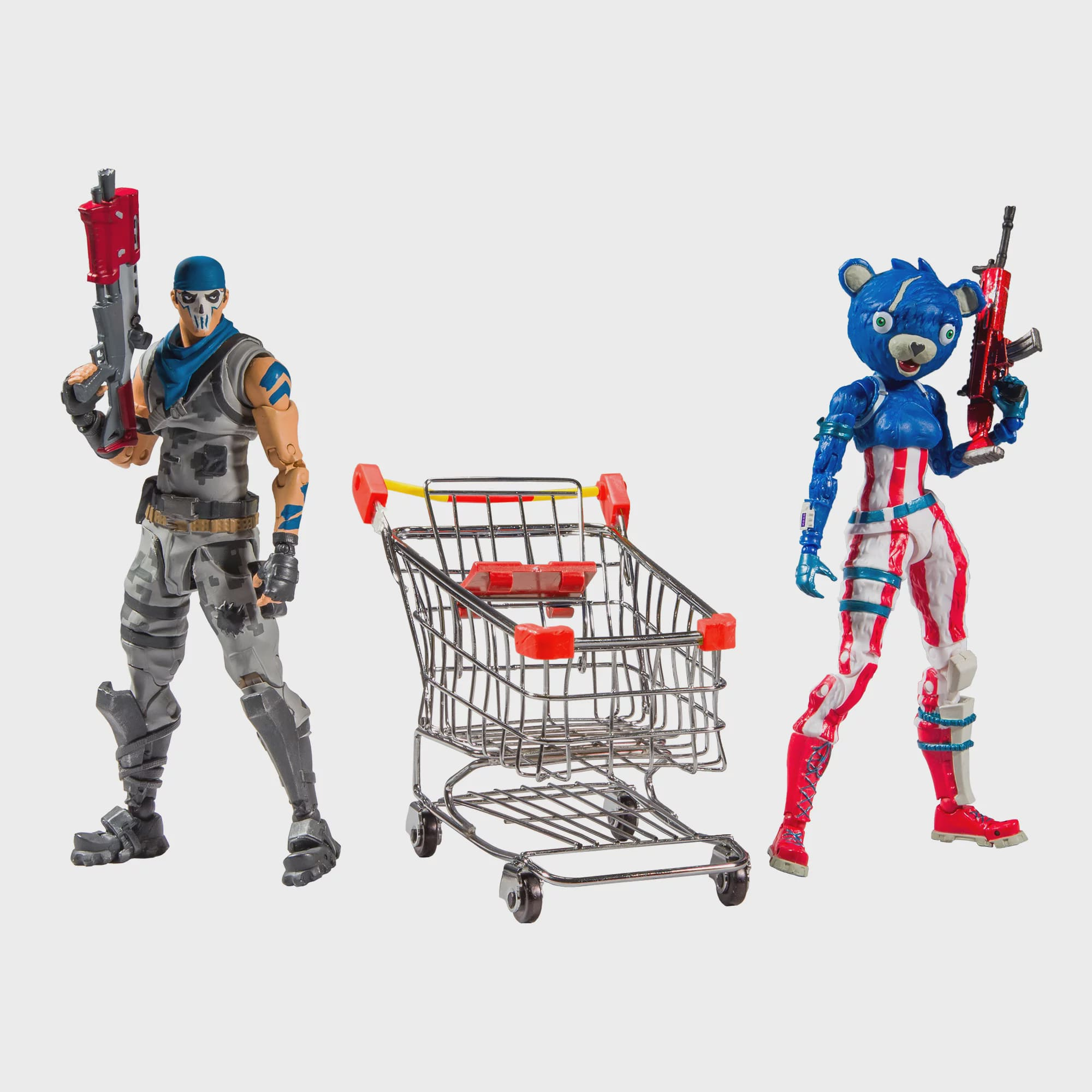 MCFARLANE - FORTNITE Shopping Cart Pack #1 with Warpaint and Fireworks Team Leader
