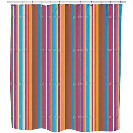 colorful stripes shower curtain extra long 70 inches x 90 inches. Black Bedroom Furniture Sets. Home Design Ideas