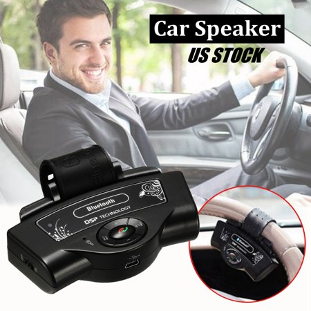 - Dual Standby Wireless bluetooth Handsfree Speaker Phone on Steering Wheel +Free Car Charger for Auto Car