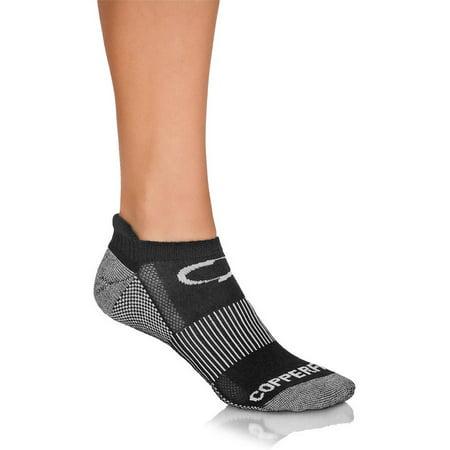 1884b2fe535a Copper Fit - Ankle Length Sport Socks, 3 pack, Black, L/XL - Walmart.com