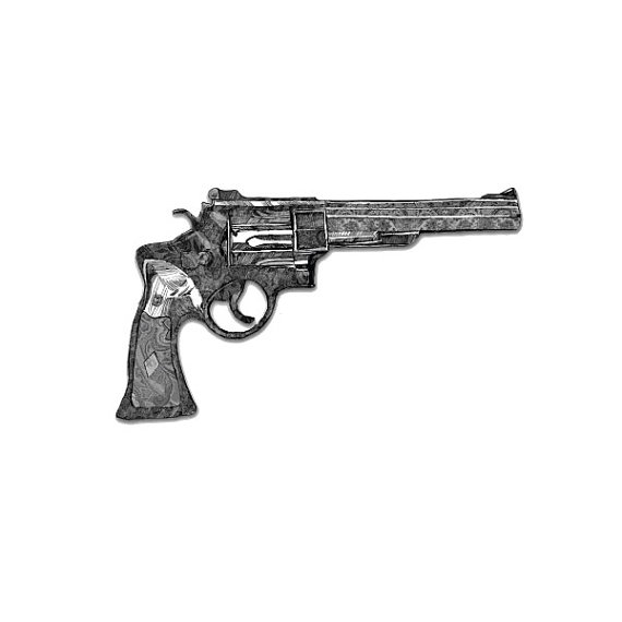 Tattify Revolver Temporary Tattoo - Son of a Gun (Set of 2)