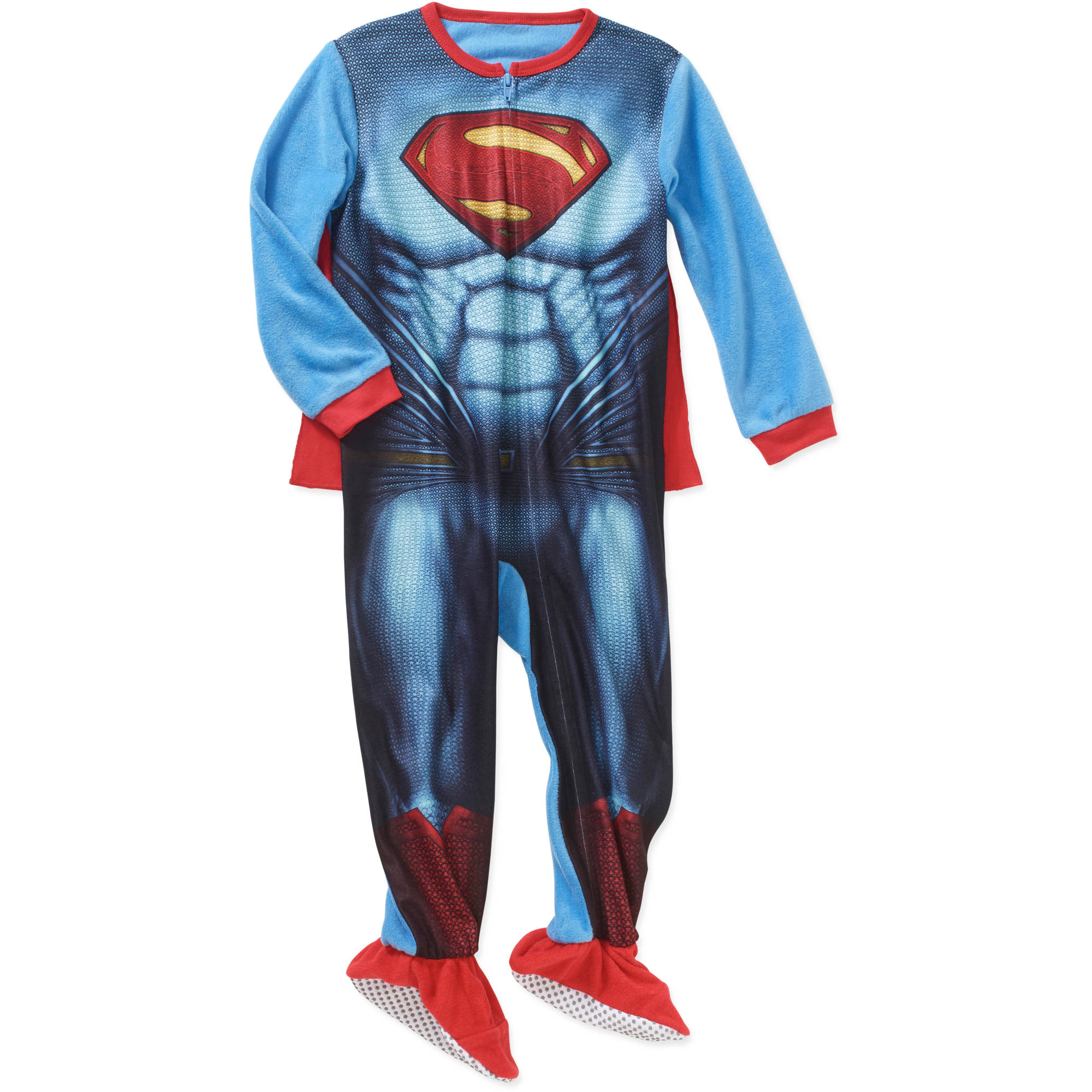 Superman Toddler Boys' Blanket Sleeper with Cape