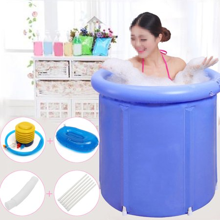 Folding Bathtub Portable Plastic Foldable Water Tub Place Room Spa Massage Bath