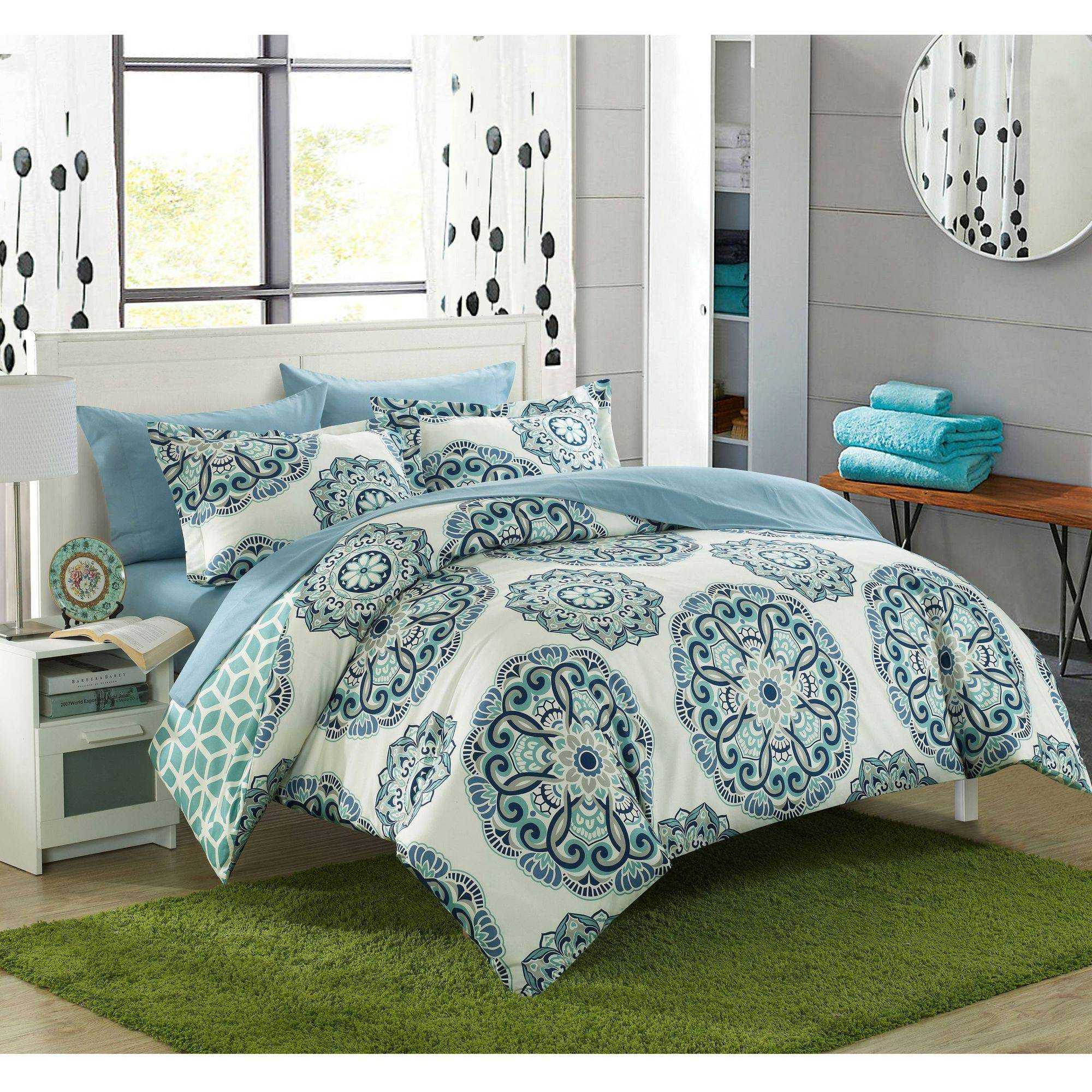 Chic Home 7-Piece Aragona Super Soft Microfiber Duvet Set