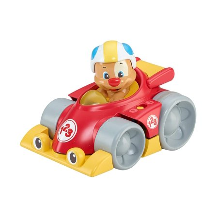 Fisher-Price Laugh & Learn Puppy's Press 'n Go Car, 2 stages: Sit-at Play & Crawl-after Play By