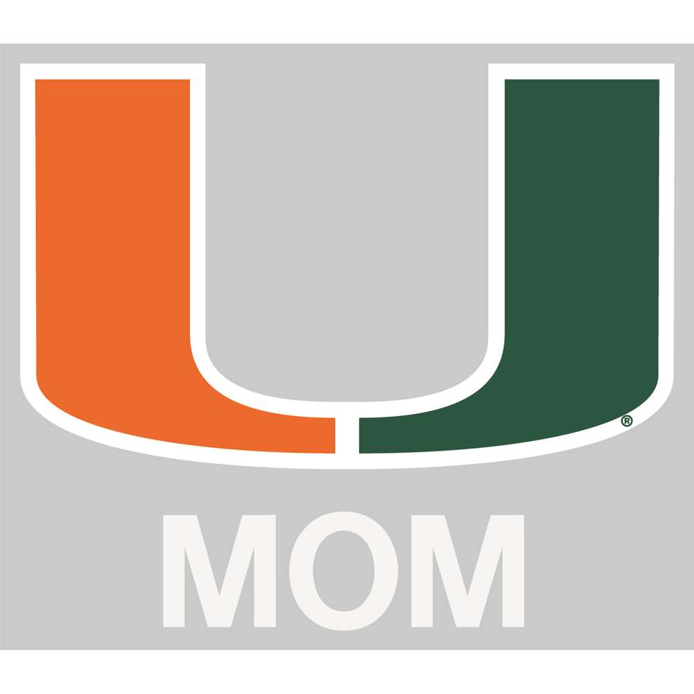 Miami Hurricanes Transfer Decal - Mom