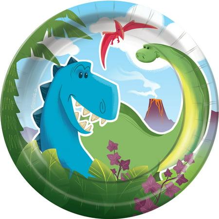 Dino Tales Dessert Plates - Dinosaur Plates