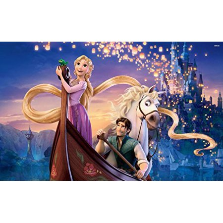 Tangled Rapunzel Princess Edible Cake Topper Frosting 1 4 Sheet Birthday Party