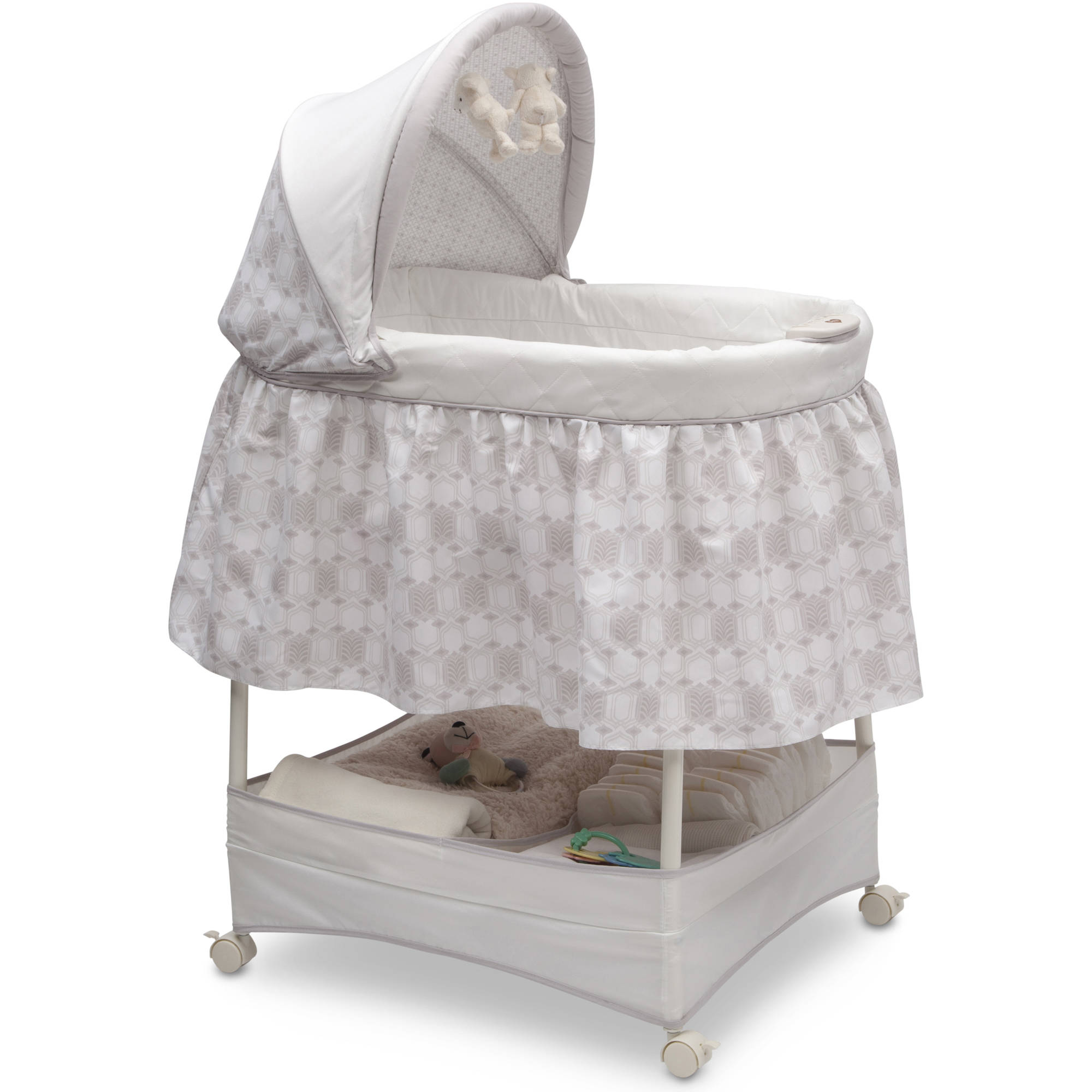 Delta Children Gliding Bassinet, Art Deco