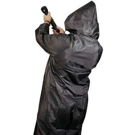 MCR Safety X-Large Black 60'' Classic .35 mm Polyester And PVC 2-Piece Coat With Detachable Hood And Corduroy (Corduroy Sport Coat)